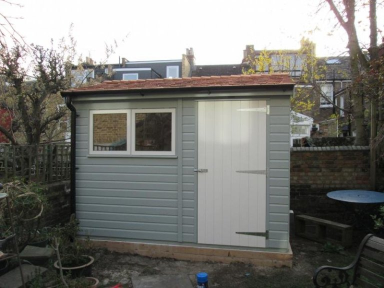 Superior Shed with Black Guttering - Hampstead