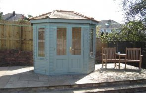 attractive traditional summerhouse with insulation and lining. The wiveton summerhouse is hand-built using fsc certified timber and boasts leaded windows with a hipped roof.