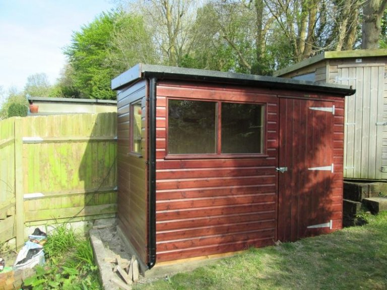 Superior Shed with Custom Roof Overhang - Lewes