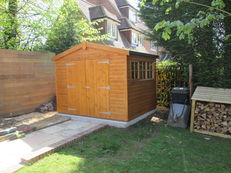 Superior Shed with Georgian Windows - Ingatestone