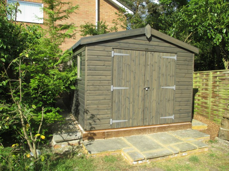 Painted Superior Shed in Sikkens Stain - Fleet