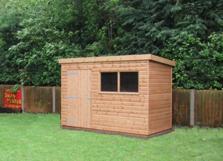 Simple Superior Shed with Black Guttering - Heacham