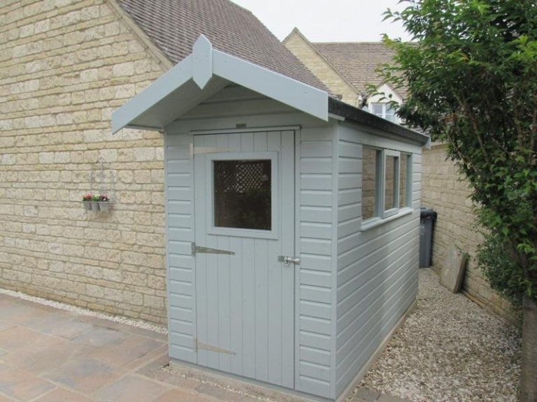 Small Superior Shed with Roof Overhang - Ducklington