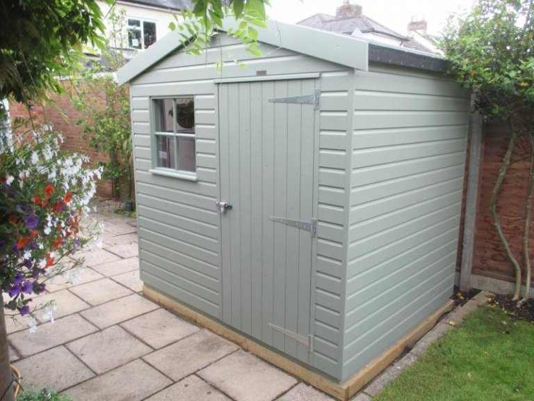 Superior Shed with Oak Faced Ply Lining - Woodley