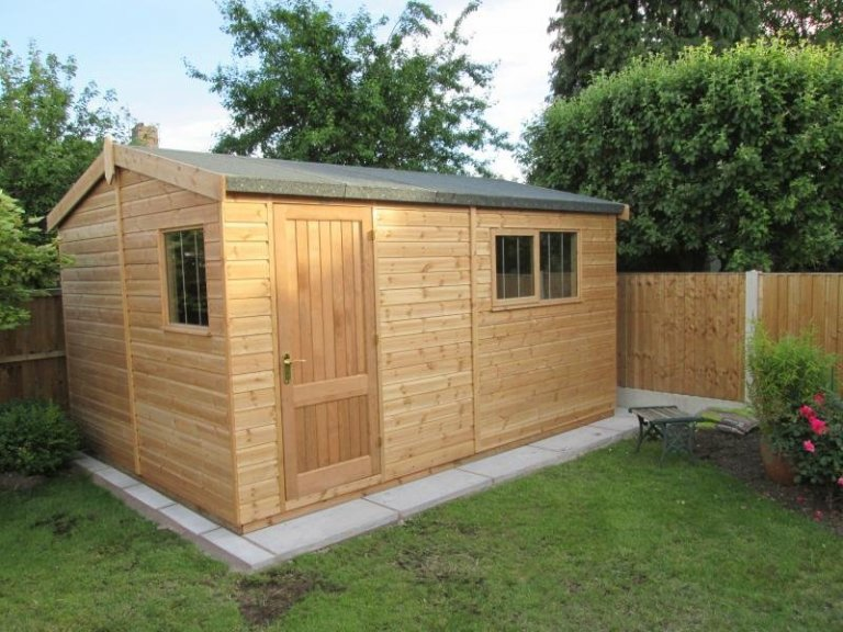 Superior Shed with Joinery Made Door - Hunts Cross