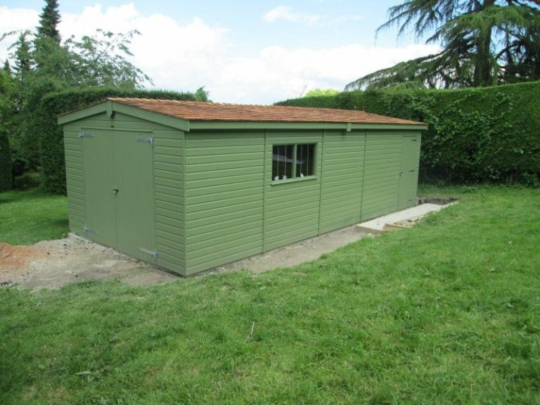 Timber Garage with Two Partitions - Offham