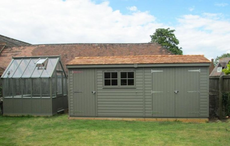 Matching Greenhouse and Superior Shed - Chinnor
