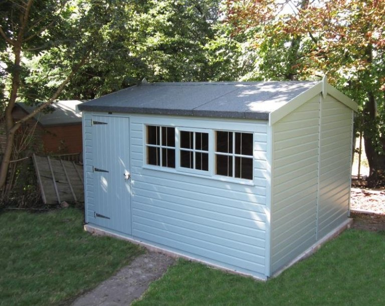 Superior Shed in Opaque Paint with Georgian Windows - Cheam