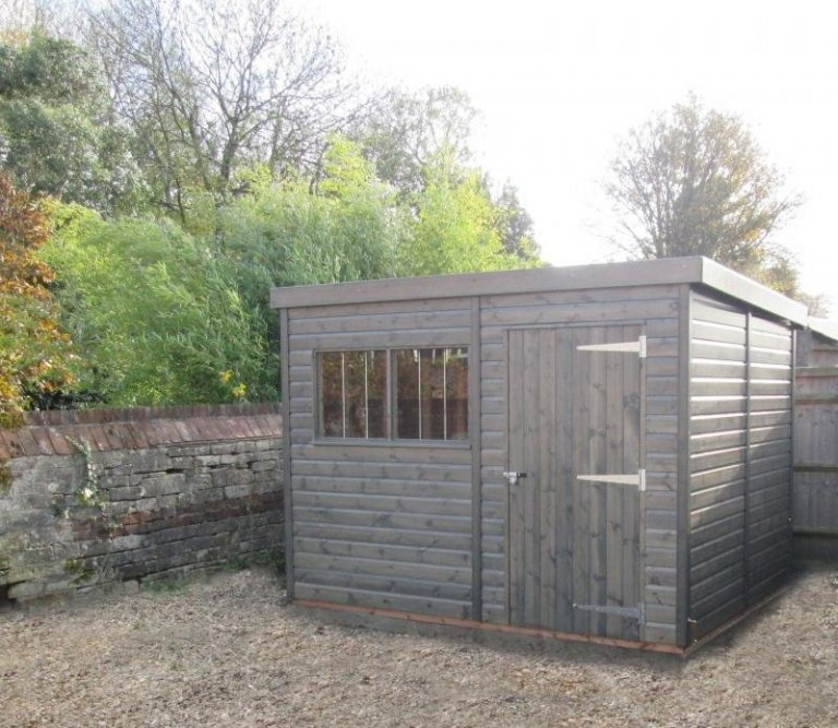 Superior Shed Painted in a Grey Stain - Eddington
