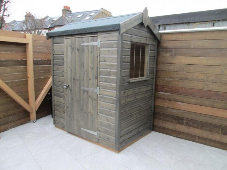 Superior Shed in a Timber Stain - Clapham