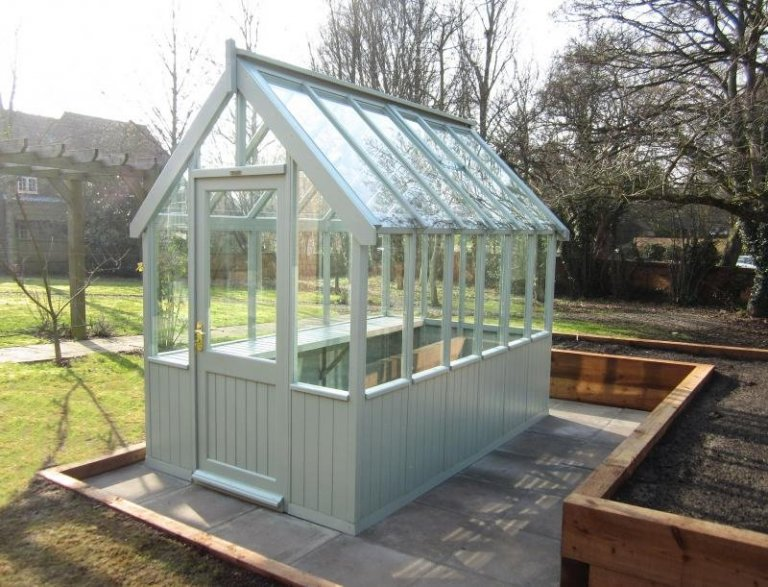 Timber Greenhouse with Slatted Bench - East Leake