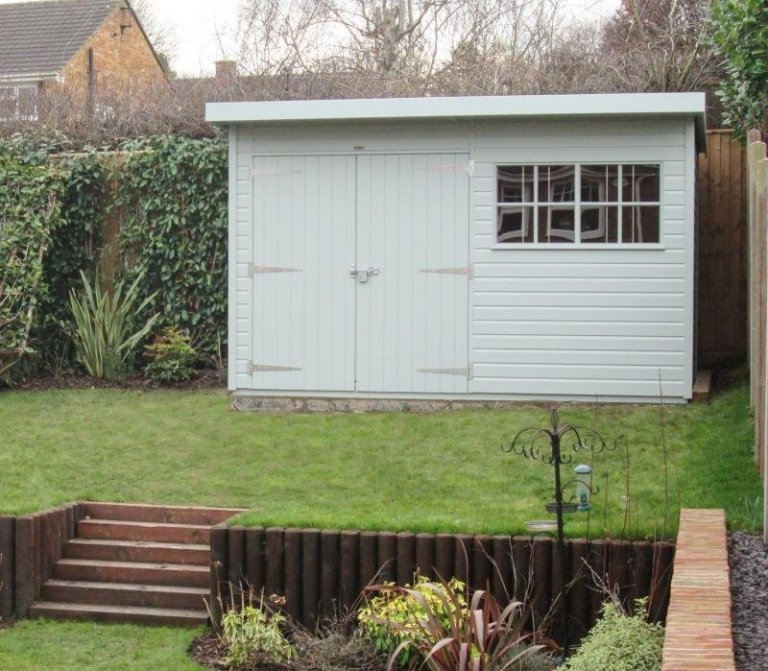Superior Shed with Roof Overhang - Harpenden