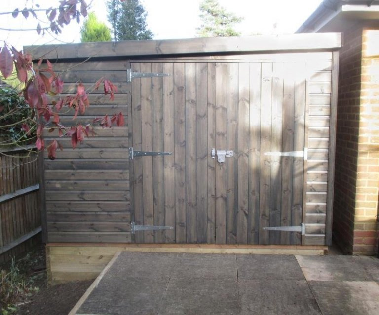 Superior Shed with Two Door Sets - Crowthorne