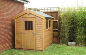 Simple Superior Shed with Apex Roof and Opening Windows