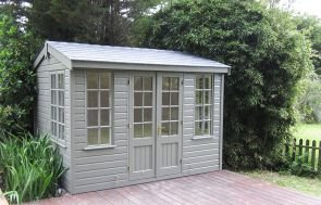 Holkham Summerhouse in Ash with Georgian Windows and Shiplap Cladding