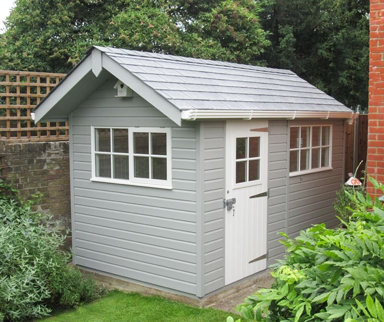 Superior Shed with Steep Pitch Roof