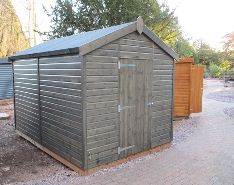 Superior Shed in Grey Sikkens