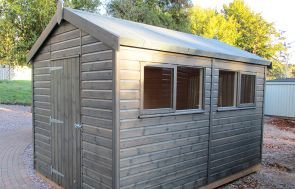 Superior Shed with Opening Windows