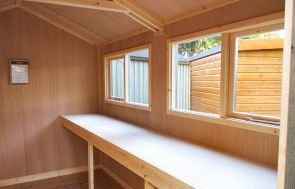 Oak Ply Workbench in a Superior Shed