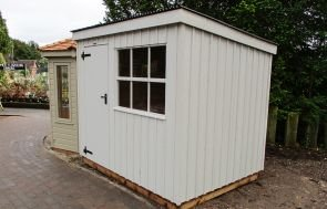 Oxburgh Shed in Earls Grey Paint