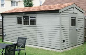Superior Shed in Weatherboard