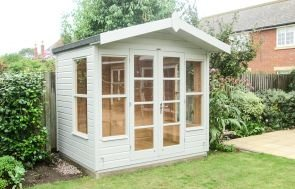 Blakeney Summerhouse in Pebble with an Apex Roof and Double Doors
