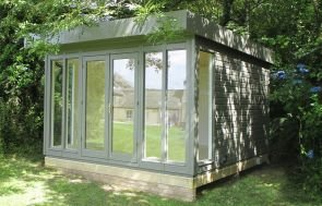 3.6 x 3.6m Salthouse Studio in Ash Paint with full Insulation and an Electric Pack with Heater