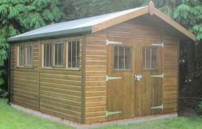 Superior Shed with Roof Overhang