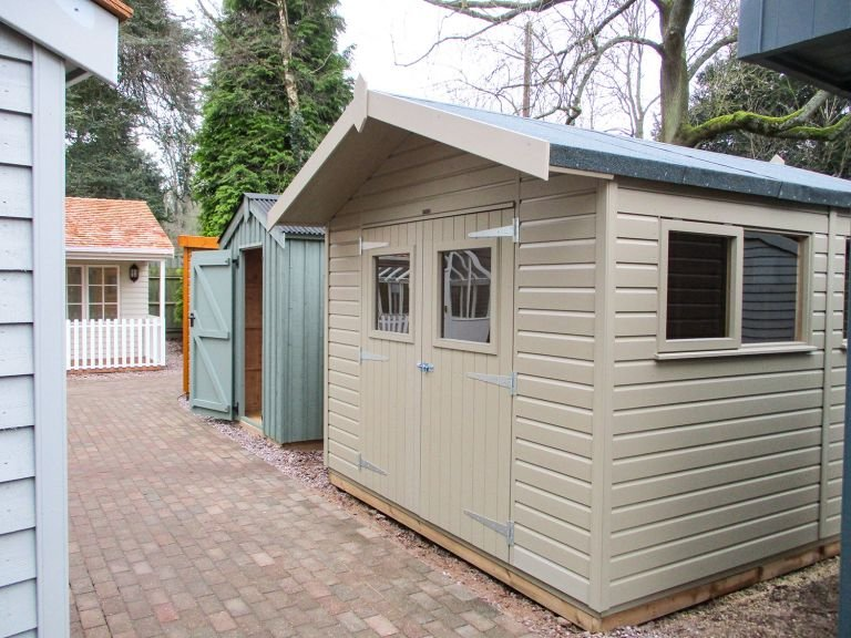 Superior Shed Painted in Taupe