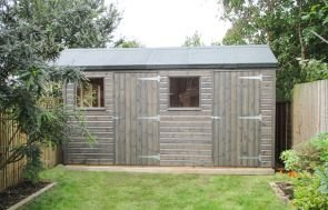 Superior Shed with a Partition