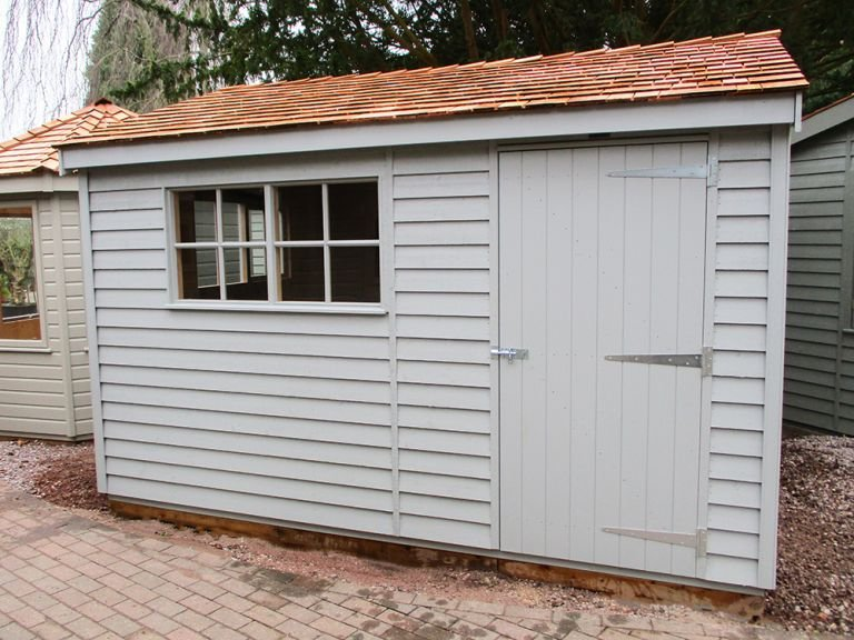 Superior Shed in Pebble Paint