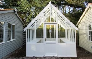 Timber Greenhouse in Ivory