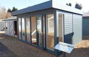 3.6 x 4.2m Salthouse Studio in Slate with Double Glazed Windows and Full Insulation