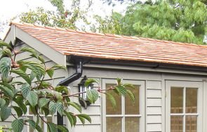 Apex Garden Room Roof - Cedar