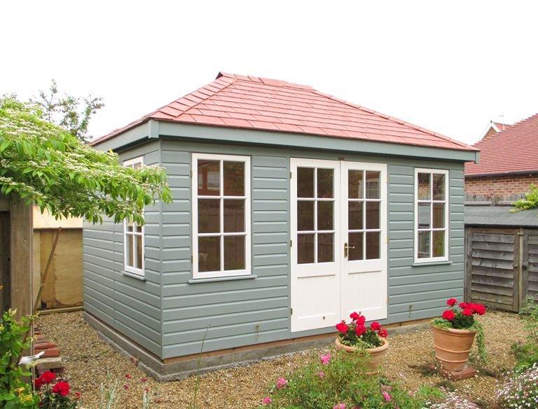 Apex Garden Room Roof - Terracotta Tiles