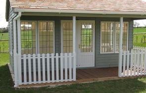 Pavilion Garden Room - White Guttering