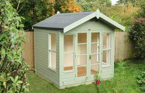 Blakeney Summerhouse in Lizard with Overhanging Apex Roof covered in Heavy Duty Roofing Felt