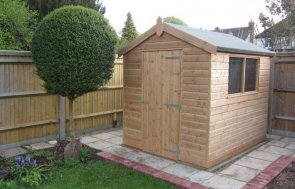 A Classic Apex Shed with smooth shiplap cladding and an apex roof covered in heavy-duty felt