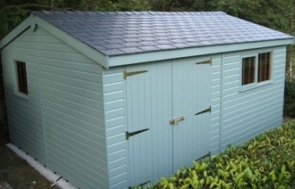 3.6 x 4.8m Superior Shed 2.0m eaves