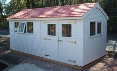 2.4 x 5.4m Superior Shed 2.0m eaves