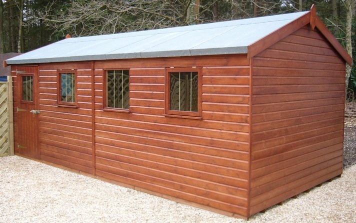 3.0 x 5.4m Superior Shed 2.0m eaves