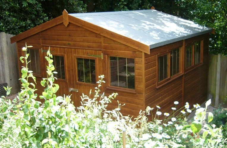 3.6 x 3.6m Superior Shed 2.0m eaves