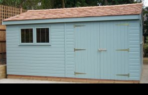 4.8 x 3.0m Superior Shed 2.0m eaves