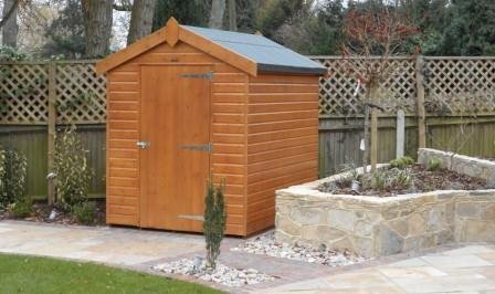 1.8 x 2.4m Superior Shed with Apex Roof covered in Heavy Duty Roofing Felt