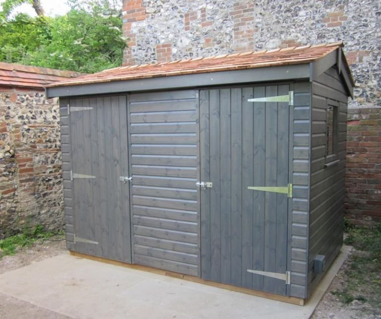 Grey Sikkens Superior Garden Shed 1.8 x 3.0m