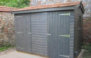 Grey Sikkens Superior Garden Shed 1.8 x 3.0m