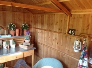 Interior of Peckover Garden Shed