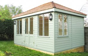 3.0 x 4.2m Cley in Lizard with Leaded Windows and Shiplap Cladding