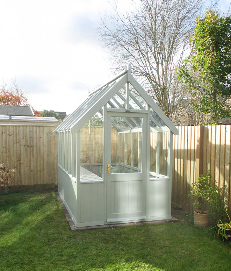 1.8 x 3.0m Greenhouse in Sage