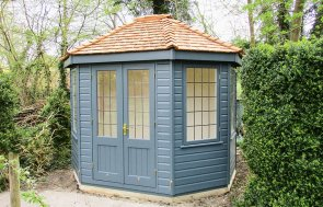 Wiveton Summerhouse in Exterior Paint System Slate